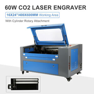 Co2 Laser Engraver Cutter 60w 16x24 With Rotary Red Dot Pointer Usb u flash pc