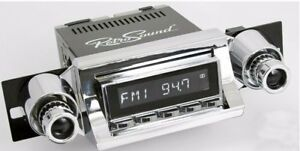 Retrosound 1957 Chevy Bel Air Zuma Radio Am Fm Rds Usb Aux Chrome