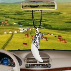 Wolf Tooth Style Car Pendant Rear View Mirror Hanger Interior Styling Decoration