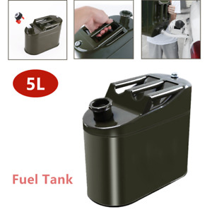 Universal Car Petrol Oil Container Can Portable Fuel Tank Metal Vertical 5000ml