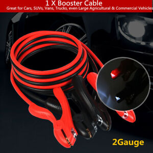 2000amp 2 Gauge Car Suvs Booster Cables 3m With Light Power Start Jumper Devices