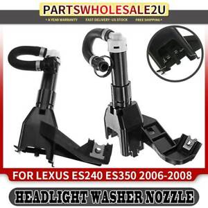 2pcs Headlight Washer Nozzles For Lexus Es350 2006 2007 2008 Front left