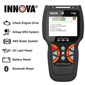 Innova 7100p Professional Obd2 Scanner Automotive Battery Abs Airbag Reset Tool