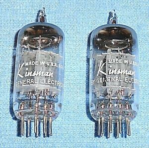 2 Kinsman By Ge 12au7a Ecc82 Vacuum Tubes For Audio Amps Preamps Test Equipment