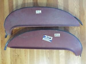 1963 1964 Plymouth Dodge Nos Original Metal Foxcraft Fender Skirts Made In Usa