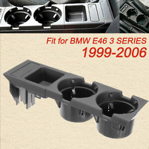 Black Center Console Storage Car Box Coin Drink Cup Holder For Bmw E46 3 Series