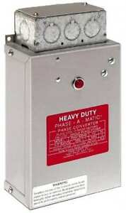 Made In Usa 20 To 30 Hp Static Phase Converter