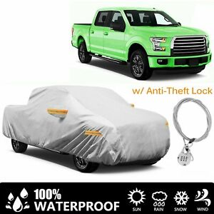 22ft Pickup Truck Full Car Cover Size Xl5 Waterproof Rain Snow Dust Proof Silver