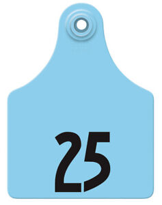 Allflex Global Maxi Numbered Cattle Ear Tags Blue 26 50