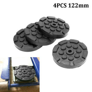 4pcs Heavy Duty 122mm Car Truck Round Soft Rubber Solid Post Lift Arm Pads Disk