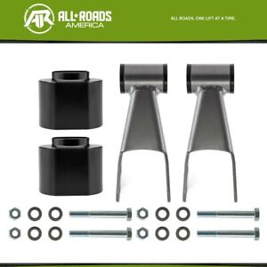 3 Front 2 Rear Full Lift Kit Spacer Shackle For 1984 2001 Jeep Cherokee Xj 4wd