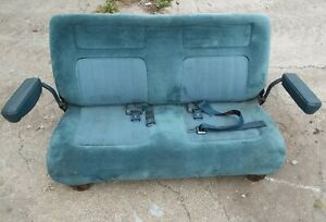 1989 Chevy K5 Blazer Rear Bench Seat Blue