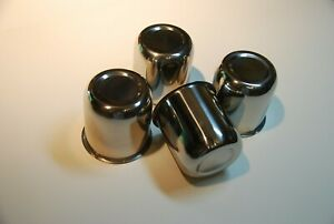 3 25 Push Through Wheel Center Caps Polished Stainless Set Of 4 Work On Jeep
