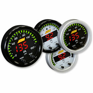 Aem 30 0307 52mm X Series Digital Led Oil Pressure Gauge 0 150psi Black