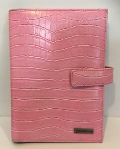 Franklin Covey Note Pad Holder Organizer Journal Portfolio Pink Reptile
