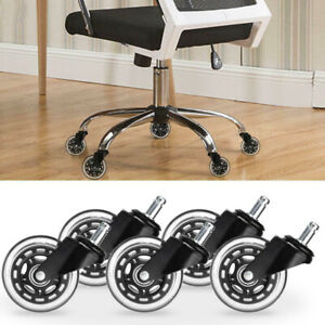 Office Chair Caster Wheels 3 Set Of 5 Heavy Duty Safe For All Floors Usa