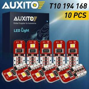 10x Auxito 168 T10 194 2825 6k Led License Plate Trunk Dome Map Light Bulb 12v R