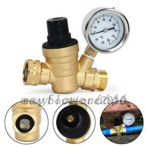 Adjustable Brass Lead free Water Pressure Regulator Reducer With Gauge Filter