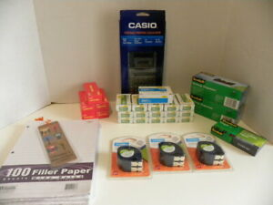 Office Products Bundle lot Calculator staples tape Dispenser tape Label Tape