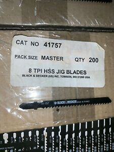"4""Black And Decker Lot Of 200 T Shank jig saw blades HSS 8 TPI France Made"