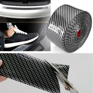 Parts Accessories Car Carbon Fiber Door Sill Plate Cover Anti Scratch Stickers