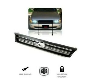 For 93 97 Toyota Corolla Grill Grille Ae101 Jdm Chrome Crown Logo 1993 1997