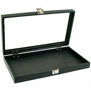 Glass Top Jewelry Pocket Watch Display Travel Case Box Home amp Kitchen