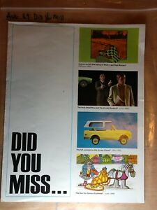 Vintage Chevrolet Did You Miss 1970 Highlights Chevy 70 Sales Brochure