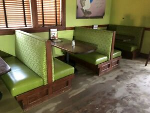 Commercial Grade Restaurant Seating Booths 20 Single Booths 4 Doubles