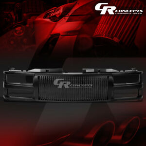 Black Abs Front Bumper hood Vertical Grill Cover For 94 00 C10 C k tahoe blazer