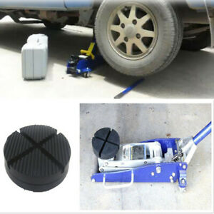 Car Cross Slotted Frame Rail Floor Jack Rubber Pad Adapter For Pinch Weld Side
