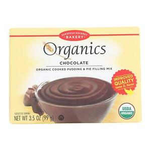 European Gourmet Bakery Organic Chocolate Pudding Mix Pudding Mix Cs 12 3 5oz