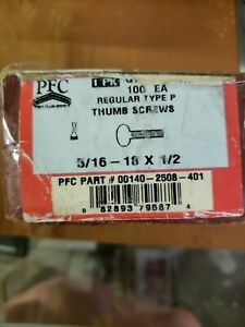 Regular Type P Thumb Screws 5 16 18x1 2