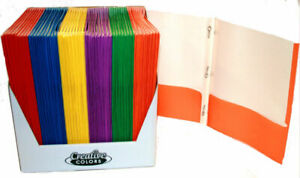 Paper 2 Pocket Folder With Prongs Assorted Colors Case Of 100