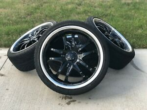 18 Inch Rims And Tires Msr Black Rims Style 085 Like New Tires Hardwa