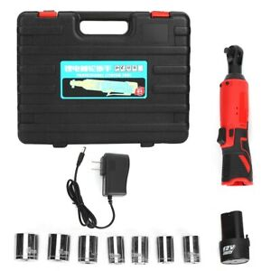 3 8in Rechargeable Electric Ratchet Spanner Kit With Led Car Repair Tool Us 110v
