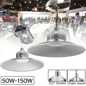 150w 100w 60w Led Garage Shop Work Light Home Ceiling Fixture Deformable Lamp Us