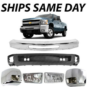 New Steel Front Bumper Face Bar Assembly For 2007 2010 Chevy Silverado 2500hd