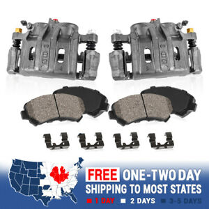 Front Brake Calipers And Ceramic Pads For 1998 1999 2000 2001 2002 Honda Accord