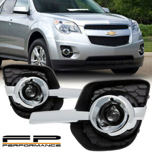 For 10 16 Chevy Equinox Clear Projector Bumper Fog Lights Wiring Complete Kit