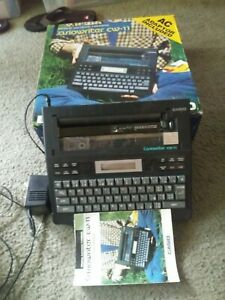 Casio Casiowriter Cw 11 Personal Electronic Typewriter Word Processor Ac dc Ink