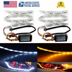 Switchback Flowing Crystal Car Led Light Strip Sequential Turn Signal Headlight