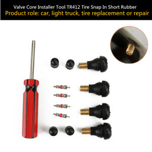 Snap In Short Rubber Valve Core Installer Tool Tr412 Tire Repair Damaged Spool