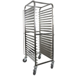 Vollum Front load Knock Down Bakery Rack Stainless For 20 Full Size Sheet Pans