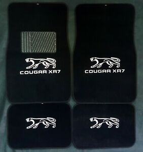 1967 1968 Mercury Cougar Xr 7 Carpet Logo Floor Mat 4pc