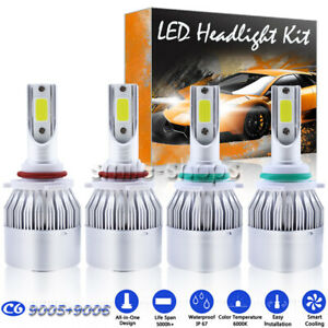 9005 9006 Combo Led Headlight Conversion High Low Beam Hid White 1300w 195000lm