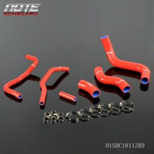 Red Silicone Cooling Radiator Hose For 2013 Scion Frs Toyota Gt86 Subaru Brz