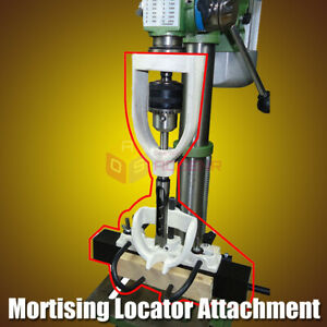 Mortising Locator Set Of Bench Drill For Chisels Woodworking Machine W 4 Bits
