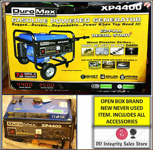 New Open Box Duromax Xp4400 Ezpull Recoil Start 4400 Watt Portable Gas Generator