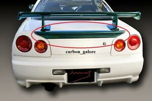 Carbon Fiber Mine S Style Trunk Spoiler Wing For Nissan Skyline R34 Gtt Gtr